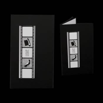 5 faire-parts bobine de film noire