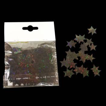 Confettis de table Etoiles hologramme noir