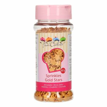 Confettis en sucre étoiles or Funcakes