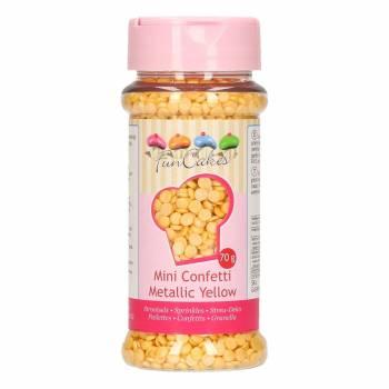 Confettis en sucre jaune irisé 70gr