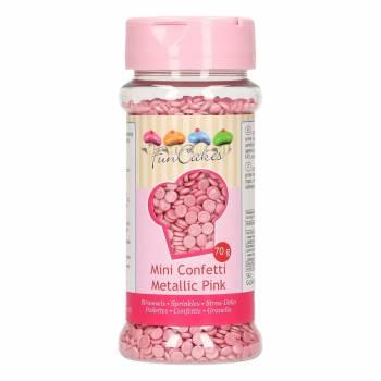 Confettis en sucre rose irisé 70gr