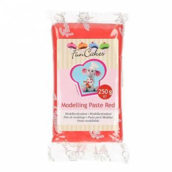 Pâte à modelage rouge Funcakes 250gr