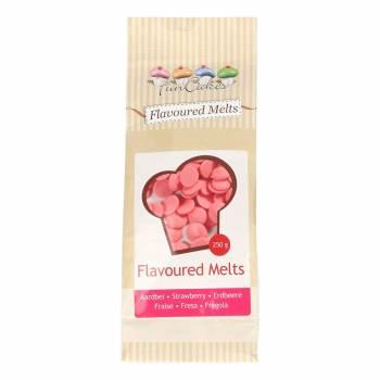 Galet de chocolat blanc à la fraise