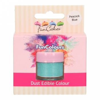 Colorant en poudre Funcakes bleu paon