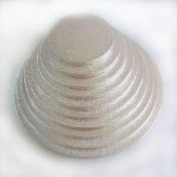 Semelle à gâteau ronde argentée 10mm
