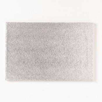 Semelle à gâteaux rectangle argenté