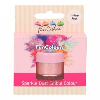 Paillettes alimentaire Funcakes rose glitter