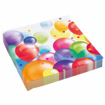 Lot 20 Serviettes Ballons