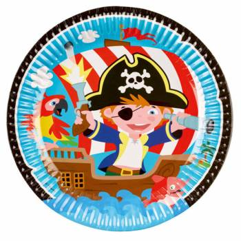 8 Assiettes Petit pirate
