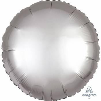 Ballon hélium satin luxe platinium rond
