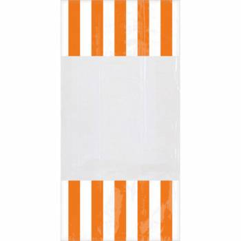 10 sacs à confiseries rayures oranges