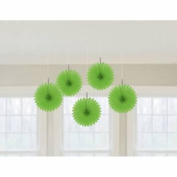 5 décors à suspendres éventail verte