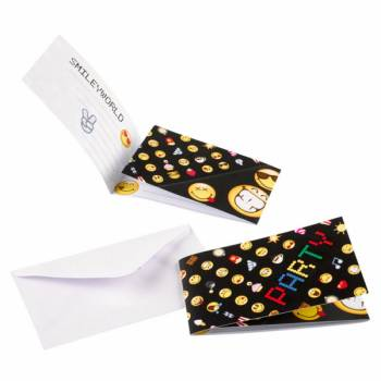 8 Invitations smiley emoticon
