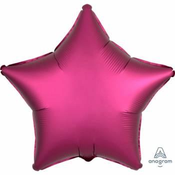 Ballon hélium satin luxe grenade étoile