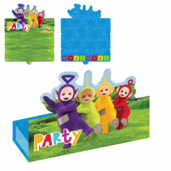 8 Cartes invitations Teletubbies