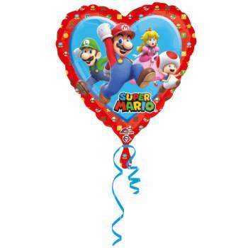 Ballon Coeur Géant Team Mario Bros