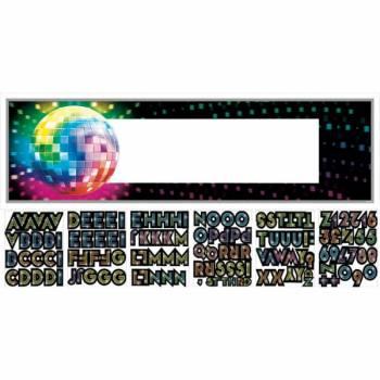 Bannière Disco 70's personnalisable