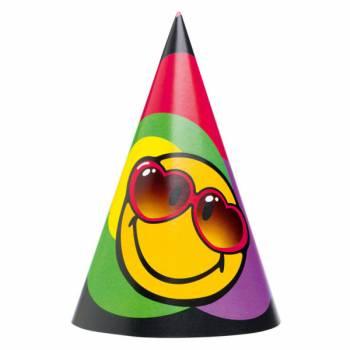Lot 6 Chapeaux Smiley en carton