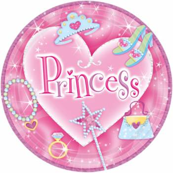 Assiettes Princesse Girly