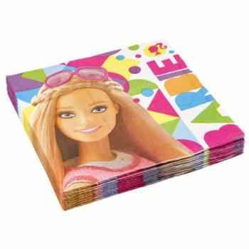 20 Serviettes Barbie Pop