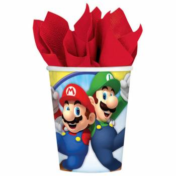 Lot 8 Gobelets Super Mario