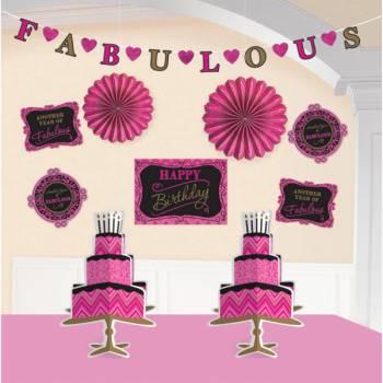 Kit décor de salle Fabulous girly