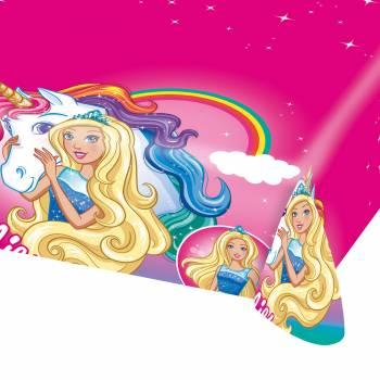 Nappe en plastique Barbie Licorne
