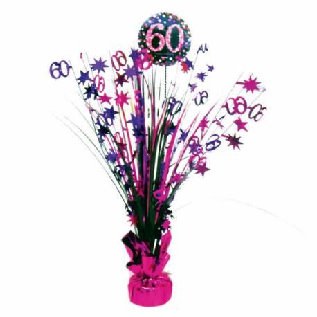 Centre de table pour anniversaire pink 60 ans Hauteur : 45.7 cm