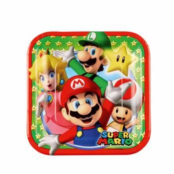 Lot 8 petites Assiettes carrée Super Mario