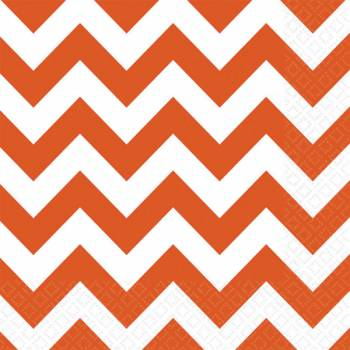 Serviettes jetables papier chevrons orange