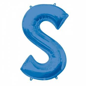 Mega Ballon Hélium lettre S bleu