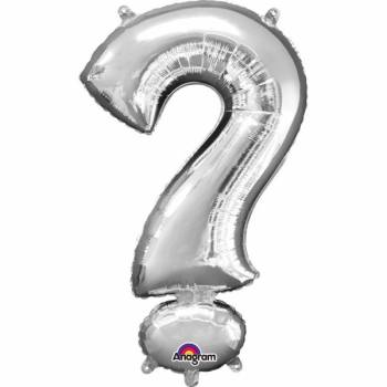 Mini Ballon hélium point interrogation argent