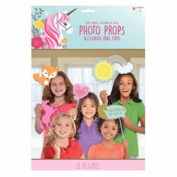 12 accessoires photobooth Licorne magique