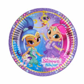 8 Petites assiettes Shimmer and Shine