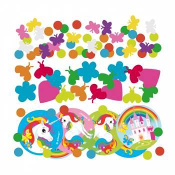 Confettis de table Licorne rainbow