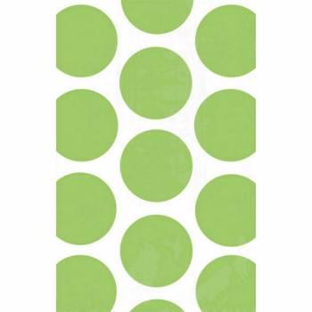 10 sacs en papier pois verts