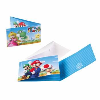 Lot 8 Invitations & Enveloppes Super Mario