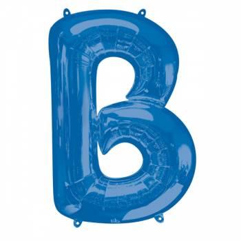 Mega Ballon Hélium lettre B bleu