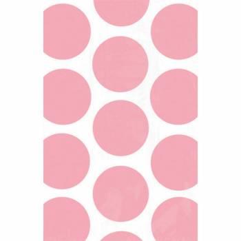 10 sacs en papier pois roses