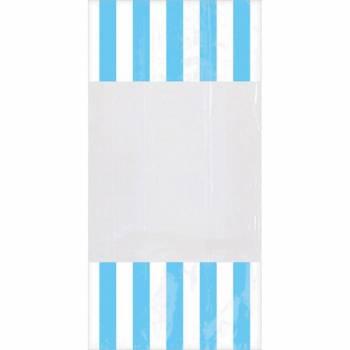 10 sacs à confiseries rayures bleues