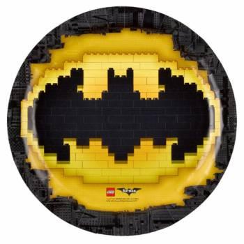 8 Assiettes Lego Batman