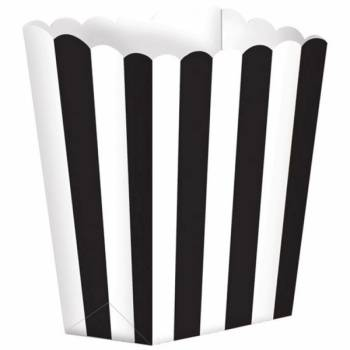 5 Boîtes Pop corn rayure noire