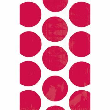 10 sacs en papier pois rouges