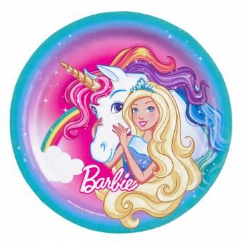 8 Assiettes Barbie Licorne