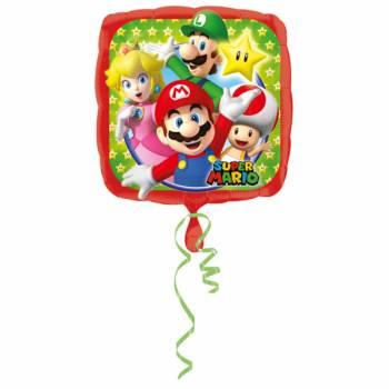 Ballon carré Super Mario en aluminium