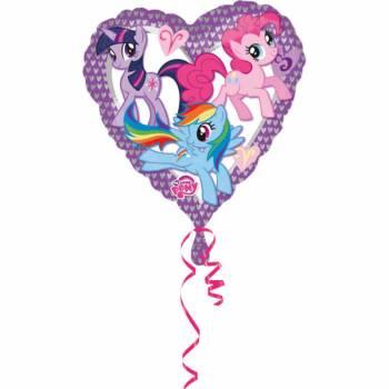 Ballon aluminium coeur My little pony