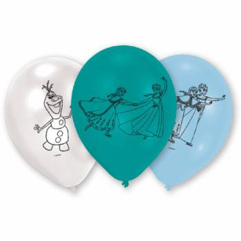 6 Ballons latex La Reine des Neiges