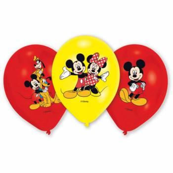6 Ballons Mickey quadri