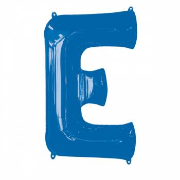 Mega Ballon Hélium lettre E bleu