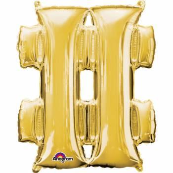 Mini Ballon hélium hashtag or